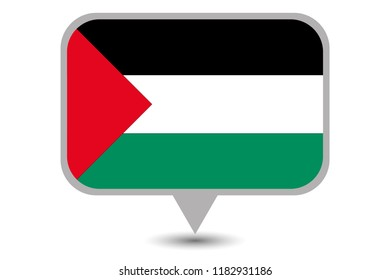 An Illustrated Country Flag of  Palestine