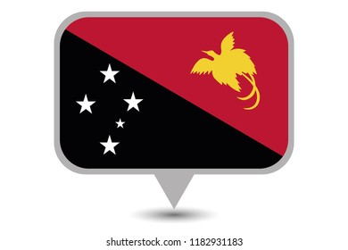 An Illustrated Country Flag of  Papua New Guinea