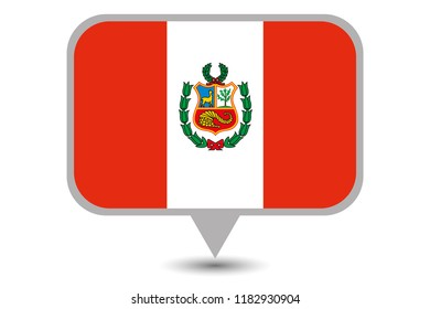 An Illustrated Country Flag of  Peru