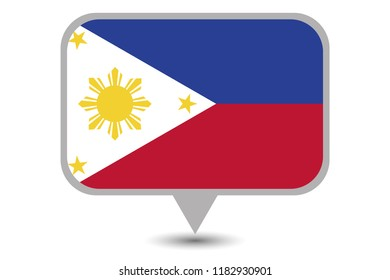 An Illustrated Country Flag of  Philippines