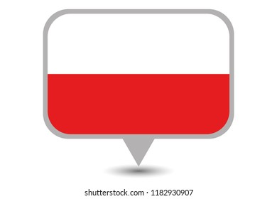 An Illustrated Country Flag of  Poland