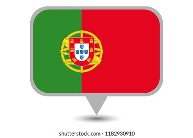 An Illustrated Country Flag of  Portugal