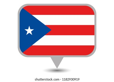 An Illustrated Country Flag of  Puerto Rico