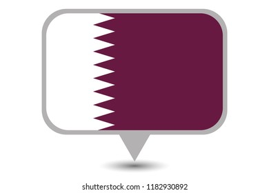 An Illustrated Country Flag of  Qatar