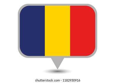 An Illustrated Country Flag of  Romania