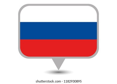 An Illustrated Country Flag of  Russia