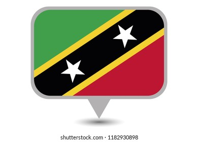 An Illustrated Country Flag of  Saint Kitts and Nevis