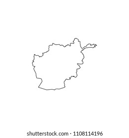 An Illustrated Country Shape of Afghanistan