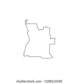 An Illustrated Country Shape of Angola