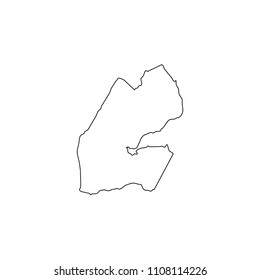 An Illustrated Country Shape of Djibouti