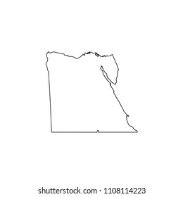 An Illustrated Country Shape of Egypt