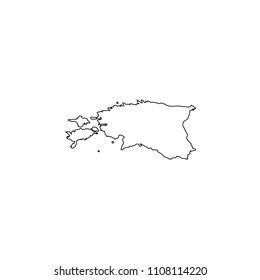 An Illustrated Country Shape of Estonia