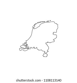 An Illustrated Country Shape of Netherlands