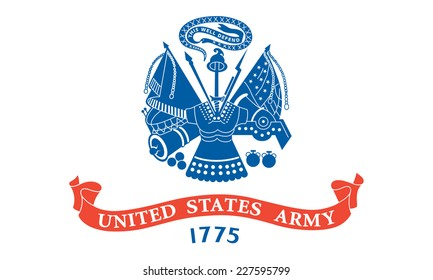 An Illustrated Drawing of the flag of Armed Forces of the United States