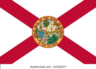 An Illustrated Drawing of the flag of Florida state (USA)