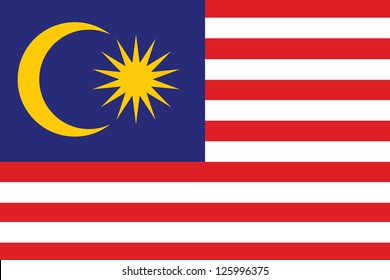 An Illustrated Drawing of the flag of Malaysia