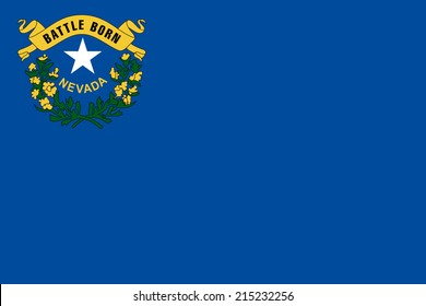 An Illustrated Drawing of the flag of Nevada state (USA)