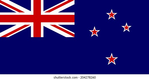 An Illustrated Drawing of the flag of New Zealand