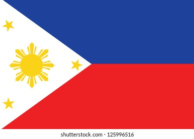 An Illustrated Drawing of the flag of Phillipines