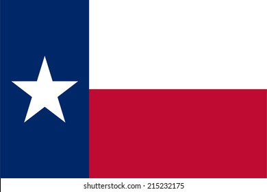An Illustrated Drawing of the flag of Texas state (USA)