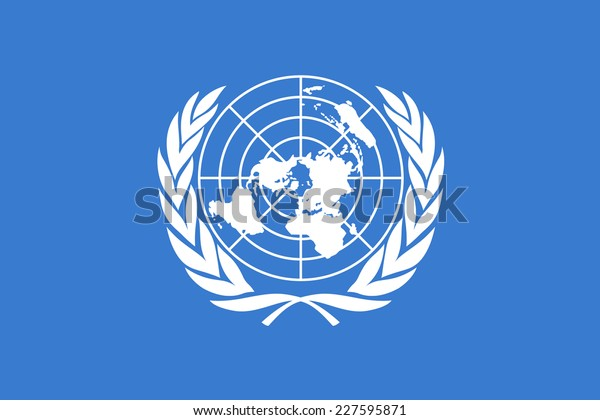 An Illustrated Drawing of the flag of the United Nations