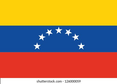 An Illustrated Drawing of the flag of Venezuela