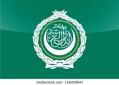 An Illustrated Glossy Country Flag of  Arab League