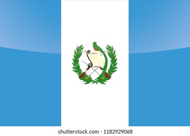 An Illustrated Glossy Country Flag of  Guatemala