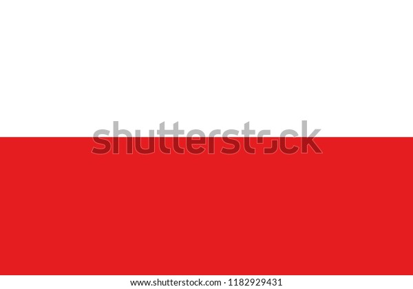 An Illustrated Glossy Country Flag of  Poland