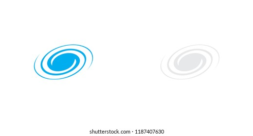 An Illustrated Icon Isolated on a Background - Spiral Galaxy