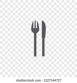 An Illustrated Icon Isolated on a Background - Knife and Fork