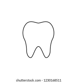 An Illustrated Icon Isolated on a Background - Tooth