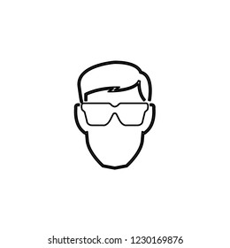 An Illustrated Icon Isolated on a Background - Eye Protection Glasses