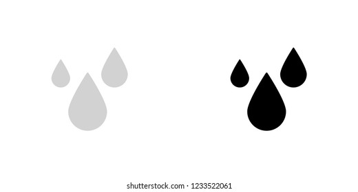 An Illustrated Icon Isolated on a Background - Rain Drops