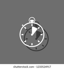 An Illustrated Icon Isolated on a Background - Stopwatch 1 Eighth Complete