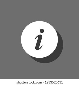 An Illustrated Icon Isolated on a Background - Round Information