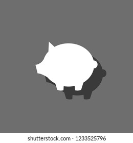An Illustrated Icon Isolated on a Background - Piggy Bank