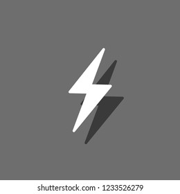 An Illustrated Icon Isolated on a Background - Lightning Bolt