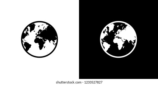 An Illustrated Icon Isolated on a Background - World North America South Americaa Europe Asia