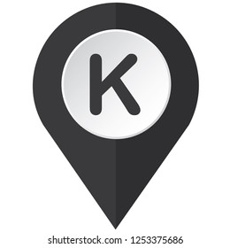 An Illustrated Icon Isolated on a Background - K