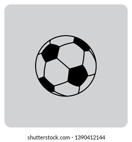 An Illustrated Icon Isolated on a Background - Soccer Ball