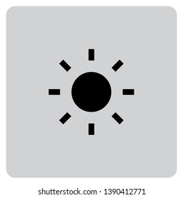 An Illustrated Icon Isolated on a Background - Sun