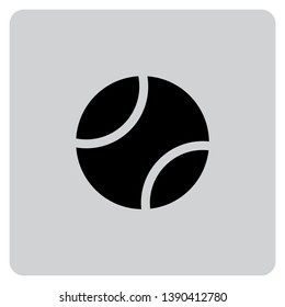 An Illustrated Icon Isolated on a Background - Tennis Ball