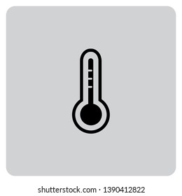 An Illustrated Icon Isolated on a Background - Thermometer