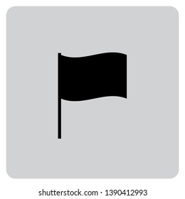 An Illustrated Icon Isolated on a Background - Waving Flag