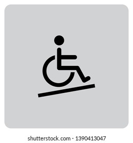 An Illustrated Icon Isolated on a Background - Wheelchair Accessible Ramp