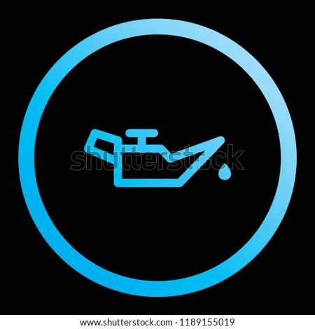 An Illustrated Icon Isolated on a Background - Oil Pressure Warning