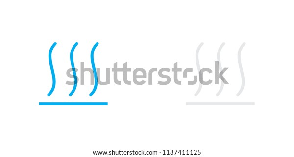An Illustrated Icon Isolated on a Background - Hot Surface
