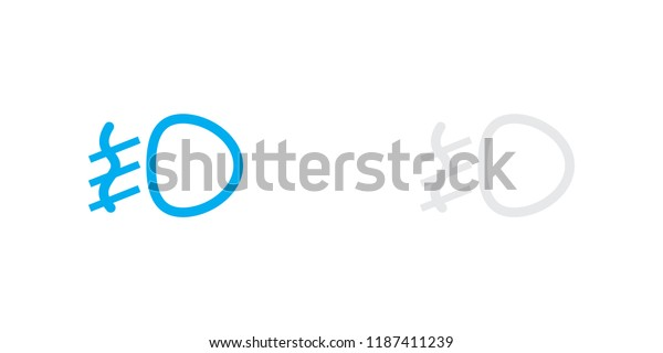 An Illustrated Icon Isolated on a Background - Fog Lamp Light