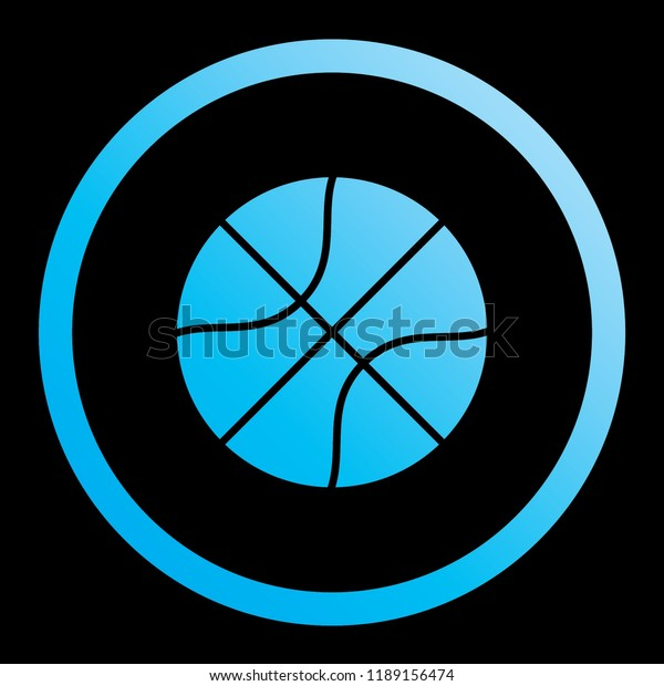 An Illustrated Icon Isolated on a Background - Basketball